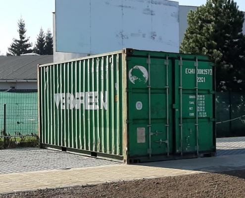 Používaný lodný kontajner 20´DC