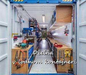 Lodný kontajner Bôry - Dielňa v lodnom kontajnery